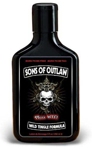 Hoss Sauce SONS OF OUTLAW Wild 99xxx Tingle Tan Lotion - 9.0 oz.