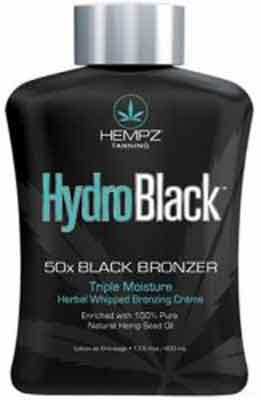 HYDROBLACK by Hempz Herbal 50 X Tanning Bronzer Lotion - 13.5 oz.