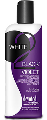 ~Sale~Devoted Creations White 2 Black Violet  - 8.5 oz.