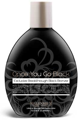 Millennium ONCE YOU GO BLACK dark bronzer - 13.5 oz.