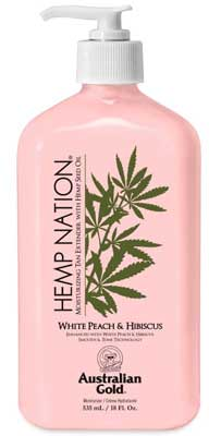 Australian Gold HEMP NATION WHITE PEACH & HIBISCUS -18 oz.