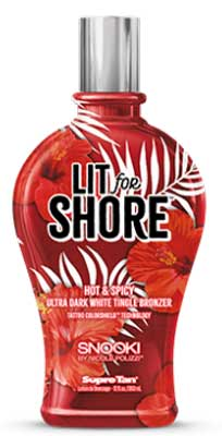 Supre Snooki Lit for Shore DarkWhite Tingle  Bronzer - 12.0 oz