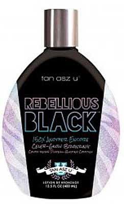 REBELLIOUS BLACK by Tan Asz U Tanning Lotion Bronzer - 13.5 oz.