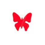 Red Butterfly Tanning Stickers 1000 ct. roll