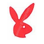 Playboy Bunny Stickers facing right - Red- 50 count