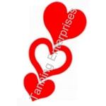 Heart In Heart  Stickers roll 1000 ct.