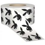 Black Authentic Playboy Bunny tanning Stickers Roll